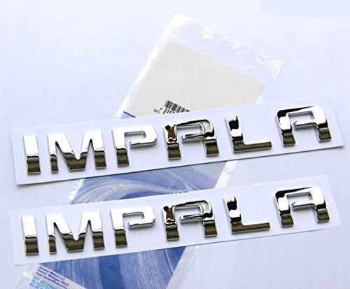 - Yoaoo 2x OEM Chrome Impala Nameplate Alloy Letter Emblems Badges Glossy for Impala