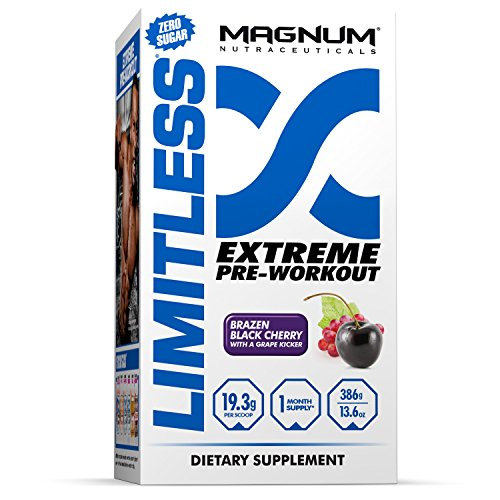 Magnum Nutraceuticals Limitless (Black Cherry) - Extreme Pre-Workout, 13.6 oz