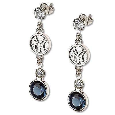 New Yankees MLB Crystal Dangle Earrings free shipping