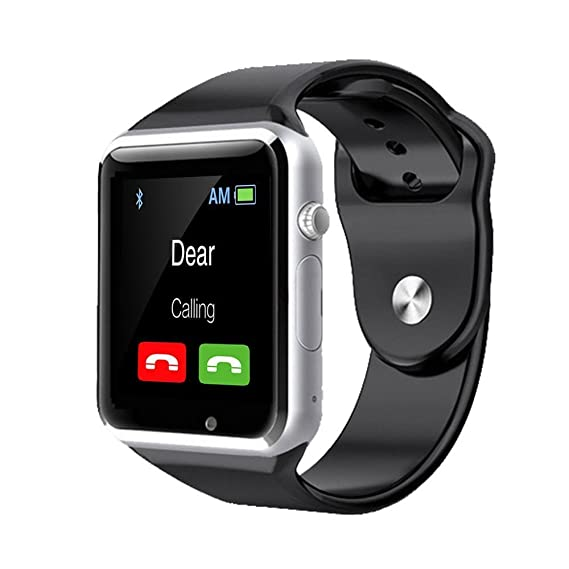 Amazon.com: IOS Android Smart Watch A1 Smartwatch with Bluetooth Camera SIM SD card Step Counter MP3 Music Silver: Cell Phones & Accessories