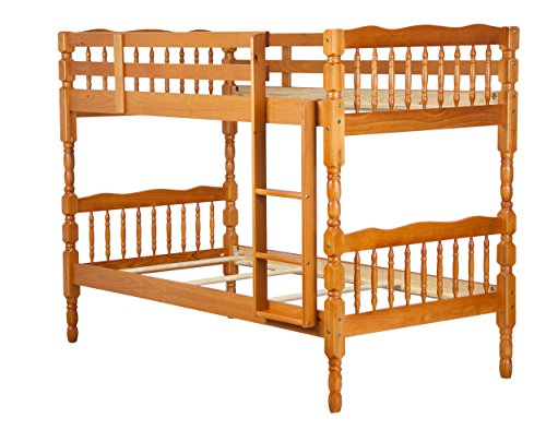 100% Solid Wood Arlington Twin Over Twin Bunk Bed by Pala...
