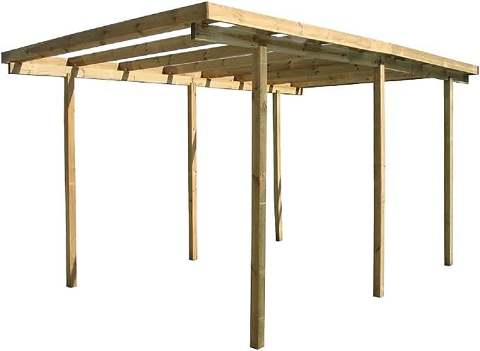 Mirador Pérgola Carport de madera impregnada 520 x 310 x 200 cm de altura : Amazon.es: Jardín