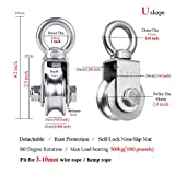 RHKING Pulley Wheel Heavy Duty Pulley Stainless