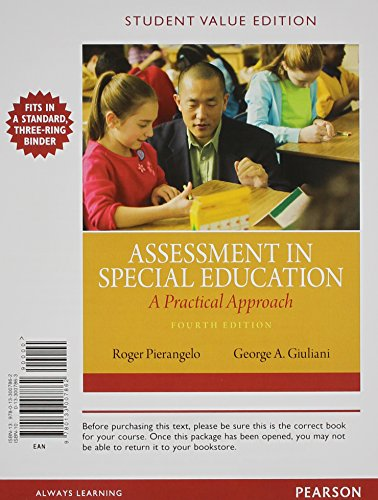 Assessment in Special Education: A Practical Approach, Student Value Edition (4th Edition)