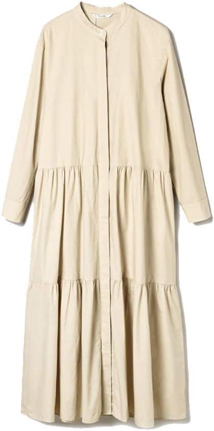 NgMik Vestido de Camello de algodón sobre la Rodilla Cardigan ...