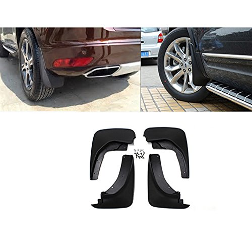 - VioGi New Set of 4 Front & Rear Mud Flaps Guards Splash Flares+Screws+Clamps Without Flares Rear For 11-17 Ford Explorer