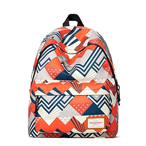 Stylish Laptop Backpack School Backpack Bookbags College Bags Daypack (Orange One Size)