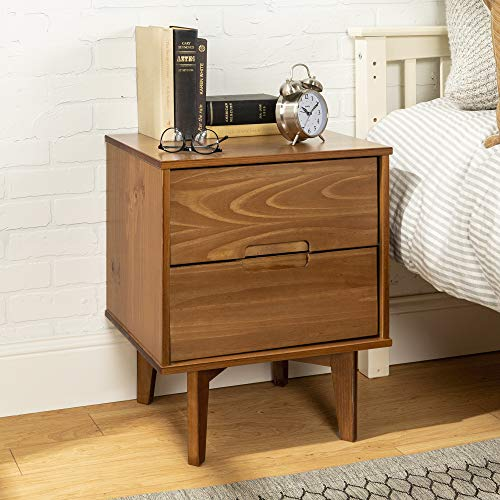 WE Furniture AZR2DSLNSCA nightstand, Caramel ()