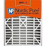 Nordic Pure 20x25x5L1M15-2 Lennox X6675 Replacement MERV 15 Furnace Air Filter, Quantity 1