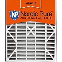 Nordic Pure 20x25x5 (4-3/8 Actual Depth) MERV 15 Honeywell Replacement Pleated AC Furnace Air Filter, Box of 1