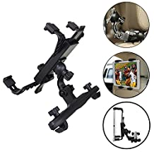 Tsmine iPad 2 iPad3 iPad 4 Tablet Headrest Mount, Universal Tablet Car Back Seat Headrest Mount Strechable Holder for iPad 2/3/4 Tablets.