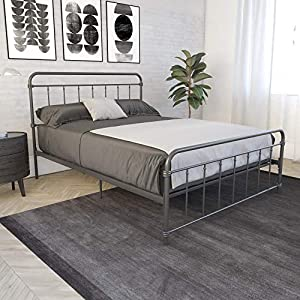 DHP Wallace Metal Bed, Full, Black