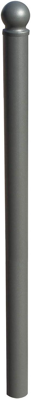 Pilona bolardo fijo para empotrar al suelo Esquirol. Bolardo de hierro con parte superior redonda de 60x1000 mm (1- Pilona)
