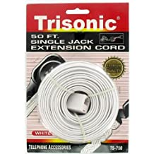 50' Single Jack Telephone Extension Cord