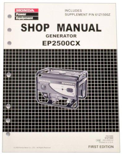 Honda EP2500 Generator Service Repair Shop Manual