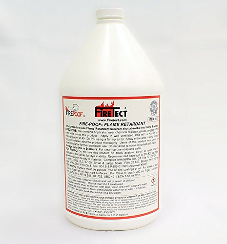 Firetect Fire-Poof Flame Retardant in 1-Gallon Container for Wood and Fabric