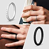 ThunderFit Thin and Stackable Silicone Rings, 4