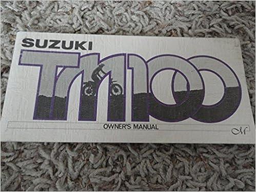 1974 1975 suzuki tm100 tm 100 owners manual suzuki amazon books publicscrutiny Gallery
