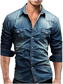 IYFBXl Mens Cotton Shirt Solid Colored//Short Sleeve
