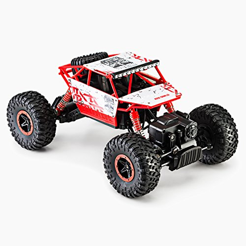 Toydaloo Remote Radio Control 4Wd Off Road Monster Crawler  Rock   Pebble Climber  With 2 4Ghz  Electric Fast Racing Hobby Car By  Red