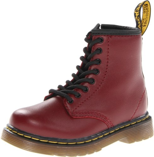 Dr. Martens Brooklee Boot (Toddler),Cherry Red Softy,9 UK (10 M US Toddler) -
