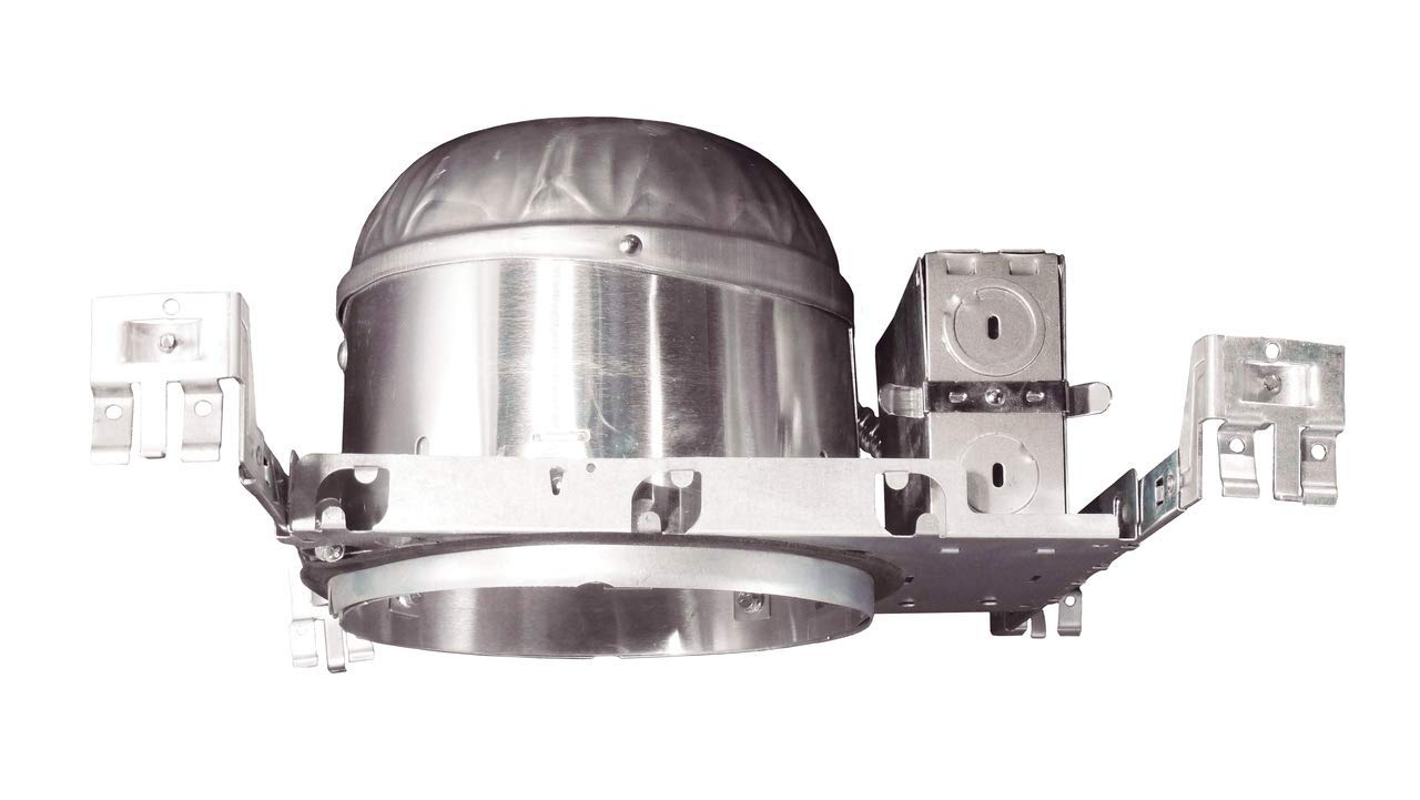 NICOR Lighting 6-Inch IC Rated Shallow Recessed LED New Construction Housing with IDEAL Connection (17014A-LED-ID)