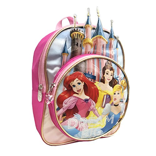 Disney Girls' Princess 10 Inch Mini Children's Backpack, Pink, One Size