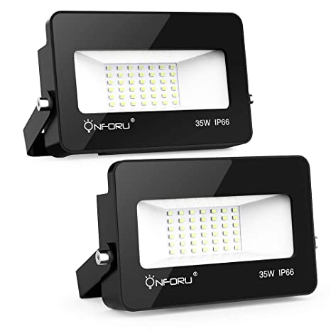 Onforu 2x 35W Foco Proyector LED, IP66 Impermeable 3000LM 5000K ...