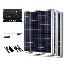 Renogy 300W 12V Polycrystalline Solar Bundle Kit