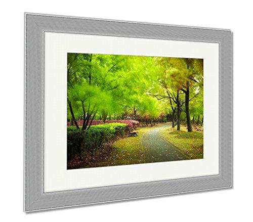 Ashley Framed Prints Green City Park Shanghai China, Wall Art Home Decoration, Color, 34x40 (frame size), Silver Frame, AG5898334