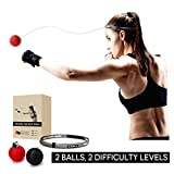Boxing Reflex Ball, Tekxyz 2 Difficulty Level Boxing Ball with Headband, Softer than Tennis Ball, Great for Boxing Punching Accuracy Improvement and Hand Eye Coordination Training