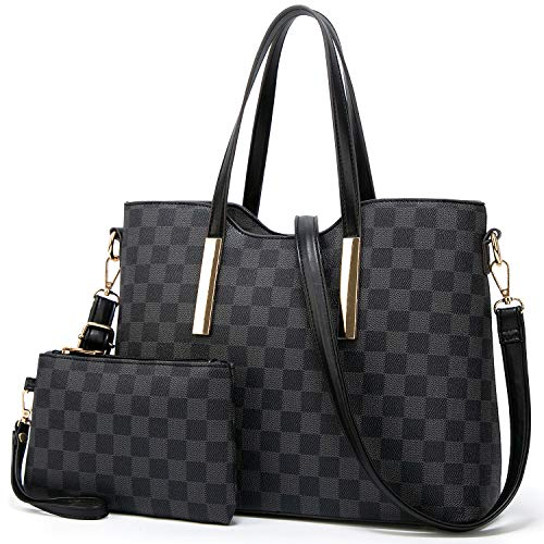 Black Satchel Tote - TcIFE Purses and Handbags for Womens Satchel Shoulder Tote Bags Wallets