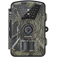 ECOOPRO Trail Camera 12MP 1080P HD Game Hunting Camera with 65ft Night Vision, 90°Detection Angle, 2.4 LCD Screen, 24pcs 940nm IR LEDs & Waterproof IP66 Surveillance Camera for Wildlife Monitoring
