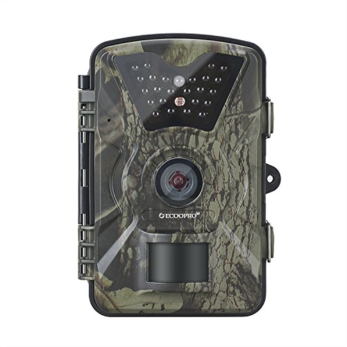 ECOOPRO Trail Camera 12MP 1080P HD Game Hunting Camera with 65ft Night Vision, 90°Detection Angle, 2.4' LCD Screen, 24pcs 940nm IR LEDs & Waterproof IP66 Surveillance Camera for Wildlife Monitoring