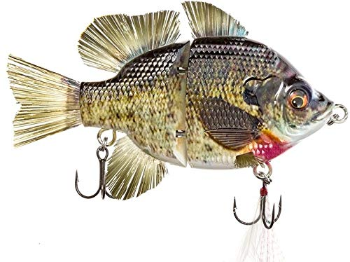 "4.5"" RF Gillman Fishing Lures bass Hard Swim Bait Lifelike Glide Bait Bluegill swimbait (4.5"" Male Bluegill Sink)"