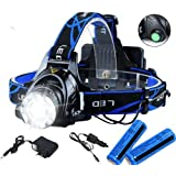 Zoom Headlamp 90000LM Rechargeable T6 LED Headlight Flashlights Head Torch Fish