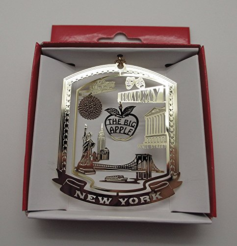 Big Apple New York City Christmas ORNAMENT Broadway Times Square Ball Wall - Shop Souvenir Broadway