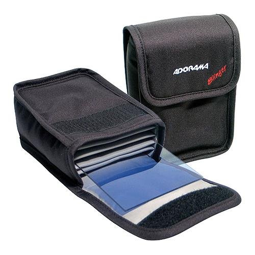 Adorama Slinger 4x6'' Filter Pouch. Holds Five 4x6'' Rectangular Filters, Black.