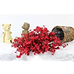 JAKY-Global-Babys-Breath-Fabric-Cloth-Artificial-Flowers-6-Bundle-European-Fake-Silk-Plants-Decor-Wedding-Party-Decoration-Bouquets-Real-Touch-DIY-Home-GardenRed