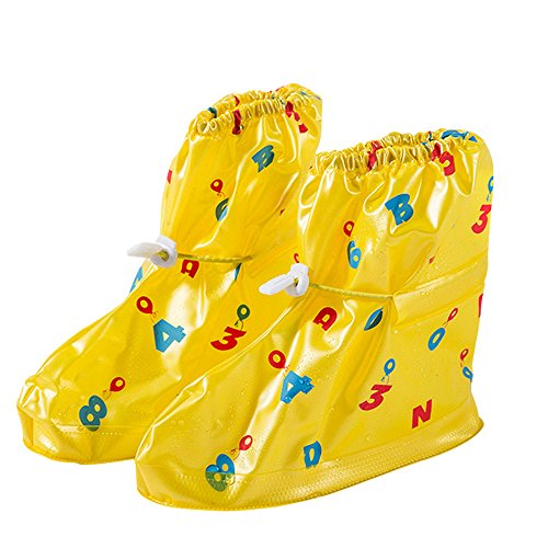 Dragon Land Fashion Waterproof Shoe Covers Rain Snow Overshoes for Kids Cute and Non-slip Safe Galoshes Boots Outdoors Sports