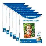 Printworks Matte Photo Paper 8.5 x 11 for Inkjet & Laser Printers, Printable on Both Sides, 6.5 mil, (6-pack bundle) 480 Sheets (00426-6C)