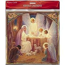 MED-AC0035 Medici Advent Calendar - Flittered Finish - Large Single Sided Christmas Pets