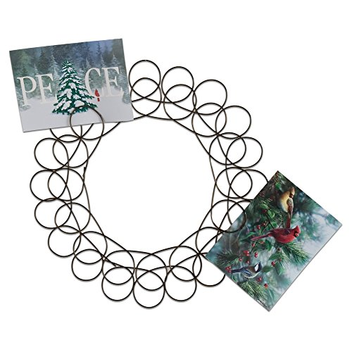 (TAG Holiday Metal Spiral Wreath Greeting Card Holder, 14.5-Inches Diameter)
