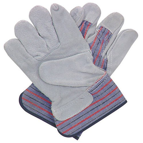 Split Leather Work Gloves with Cotton Back 5 Pr. 90 Day Warranty 90 Day Warranty by USA Tools N More