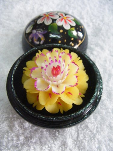 Hand Carved and Painted, Scented Soap Flower inside of a Hand Painted Orb by Soap Flowers- Chiang Mai, Thailand