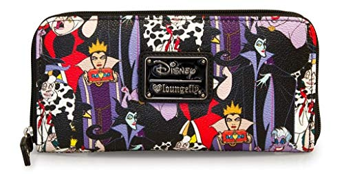 Loungefly Disney Female Villains Evil Queen Maleficent Ursula Cruella Wallet ()