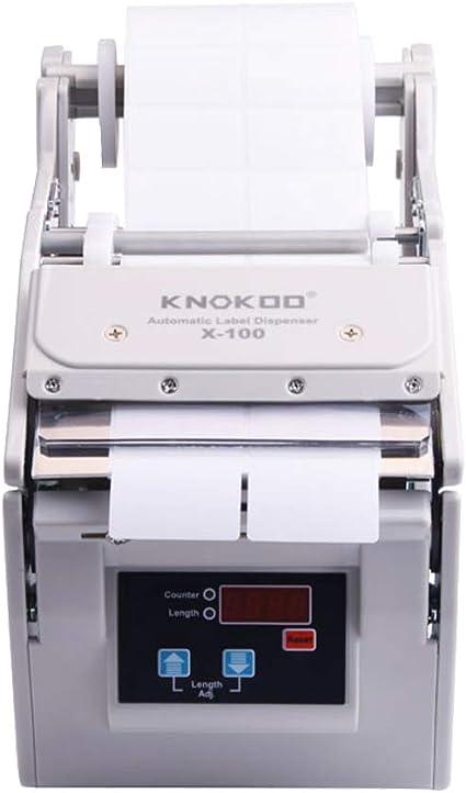 Machine /à d/écaper les /étiquettes X-100 KNOKOO Distributeur automatique d/étiquettes 5-100 mm width