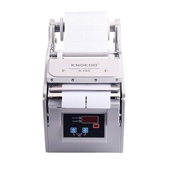 KNOKOO Dispensador automático de etiquetas X-100 Electronic Speed Control Sticking Etiquetado Máquina utilizada para