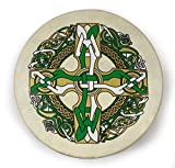 Waltons 15 Inch Gaelic Celtic Burn Bodhrán - Handcrafted Irish Instrument - Crisp & Musical Tone - Hardwood Beater Included w/ Purchase Perfect for St Patrick's Day