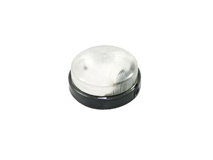 Plafoniera Tonda Per Esterno : Plafoniera tonda nera cm con vetro max w amazon illuminazione